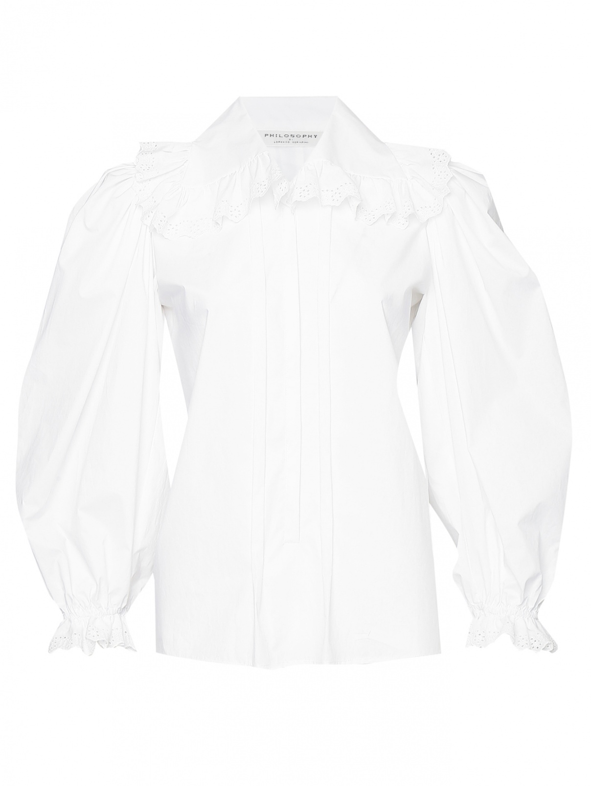 Блуза из хлопка с объемными рукавами Philosophy Di Lorenzo Serafini  –  Общий вид