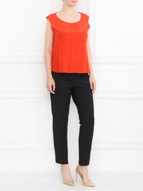 Блуза из шелка с дополнительными рукавами - Общий вид
