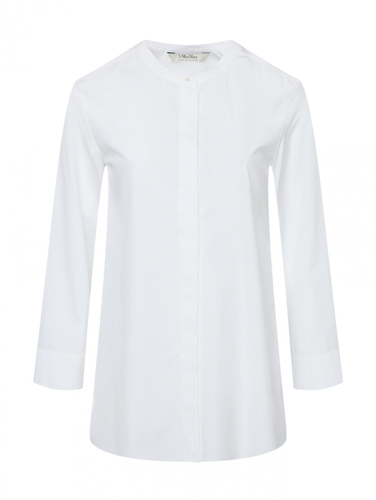 Удлиненная рубашка из хлопка с рукавами 3/4 Max Mara  –  Общий вид