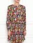 Платье свободного кроя с узором Moschino Boutique  –  МодельВерхНиз