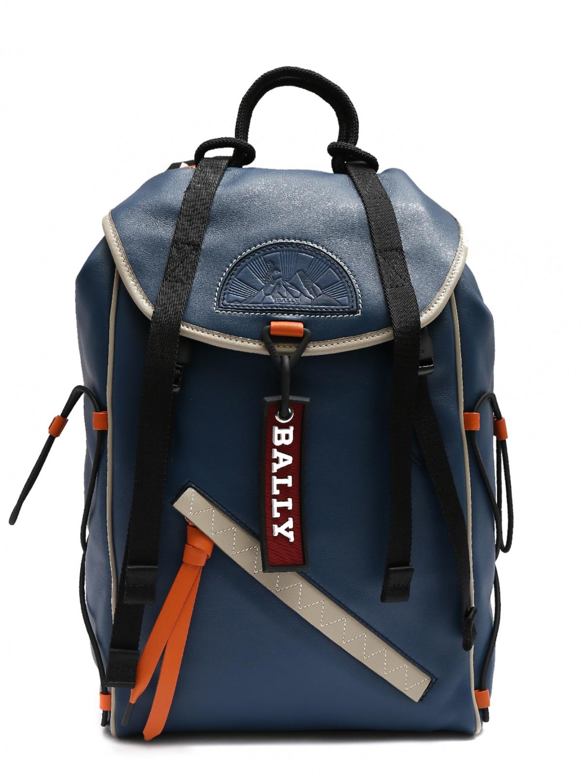 Рюкзак из кожи с контрастными вставками Bally  –  Общий вид