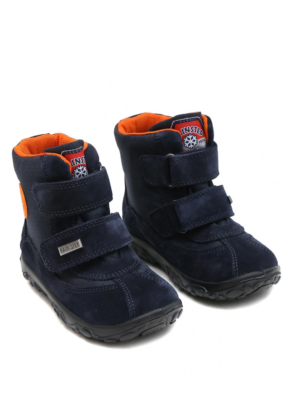 Ботинки из текстиля и кожи с липкими застежками Naturino  –  Общий вид