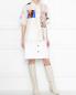 Рубашка из шелка с узором и короткими рукавами Marni  –  МодельОбщийВид