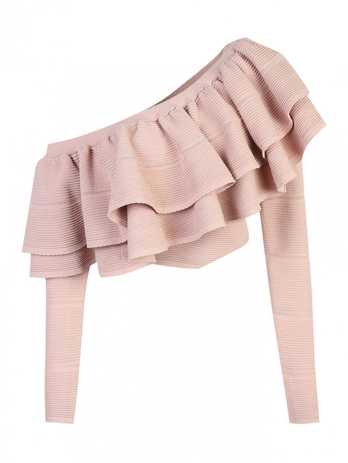 Блуза из хлопка  с воланом по горловине Keepsake  –  Общий вид