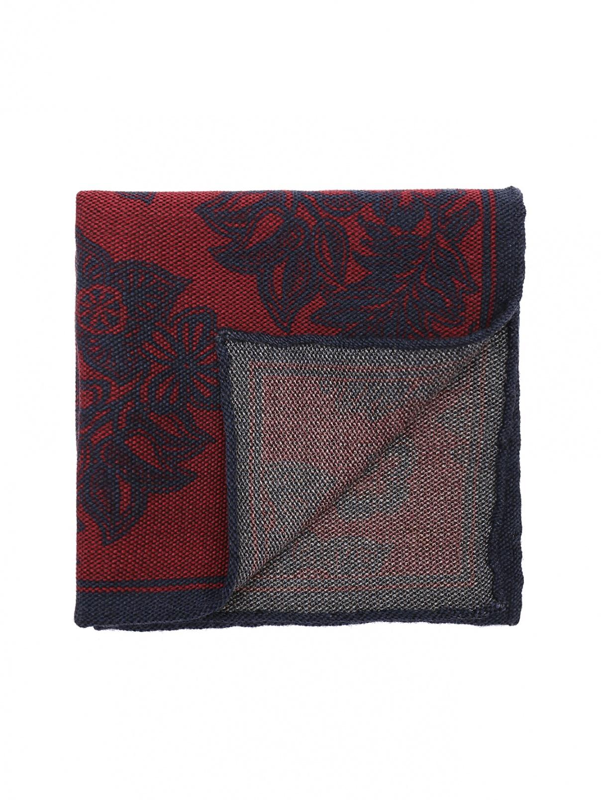 Карманный платок из шерсти и шелка с узором Isaia  –  Общий вид