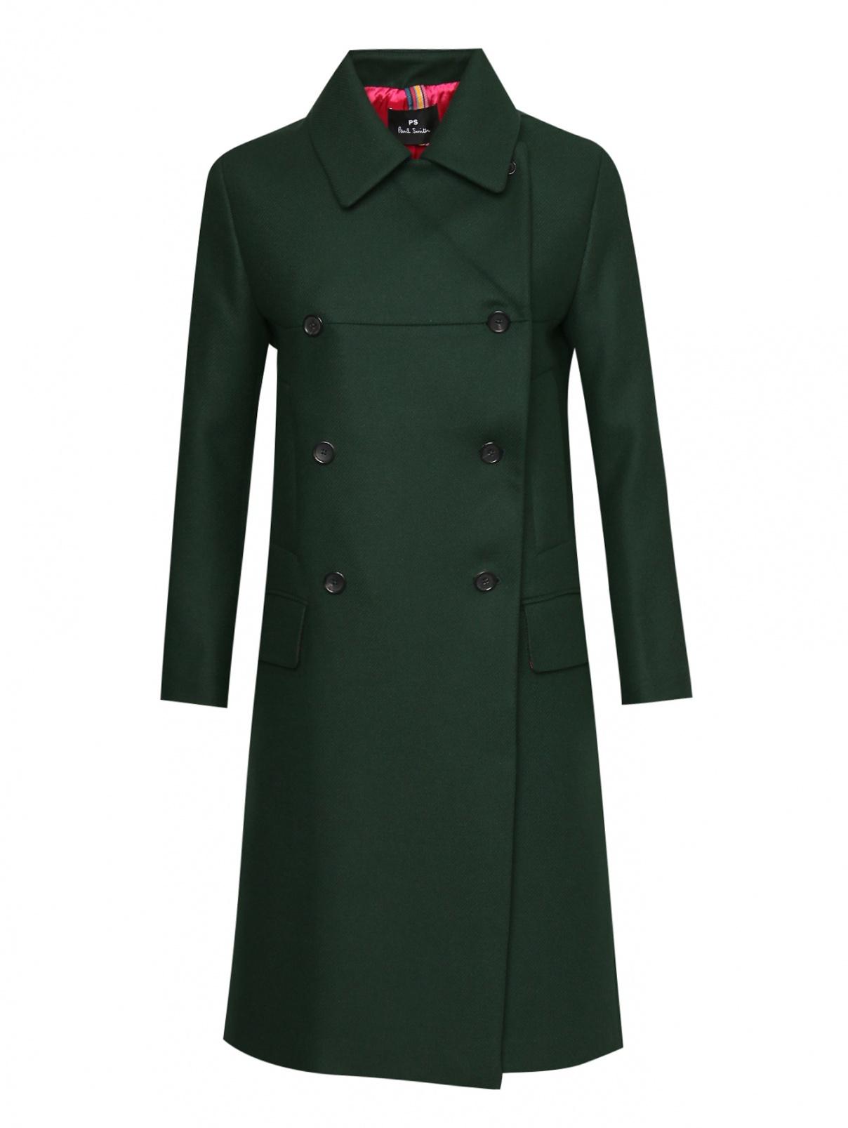 Пальто из шерсти и кашемира с карманами Paul Smith  –  Общий вид
