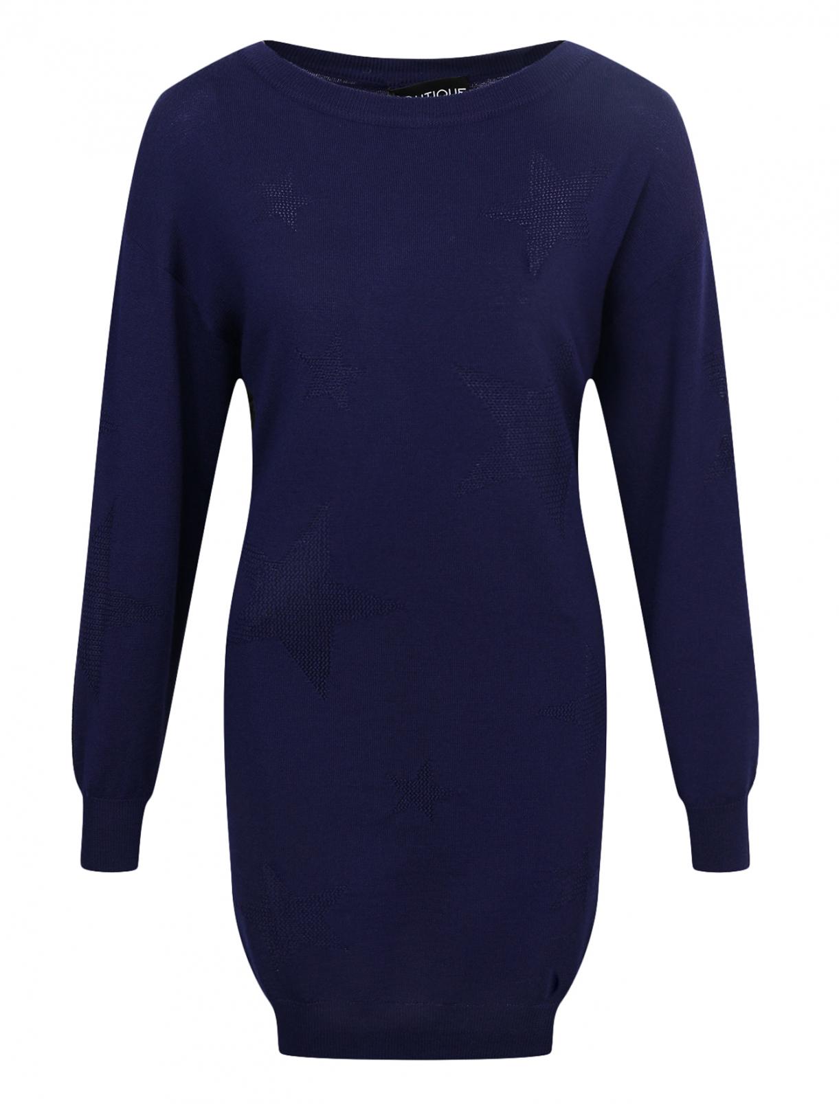 Платье из шерсти с узором Moschino Boutique  –  Общий вид