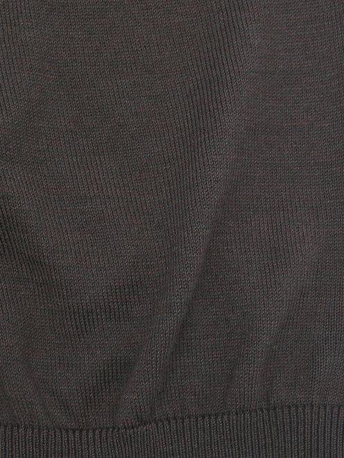 Футболка из шелка и хлопка Kangra Cashmere - Деталь1