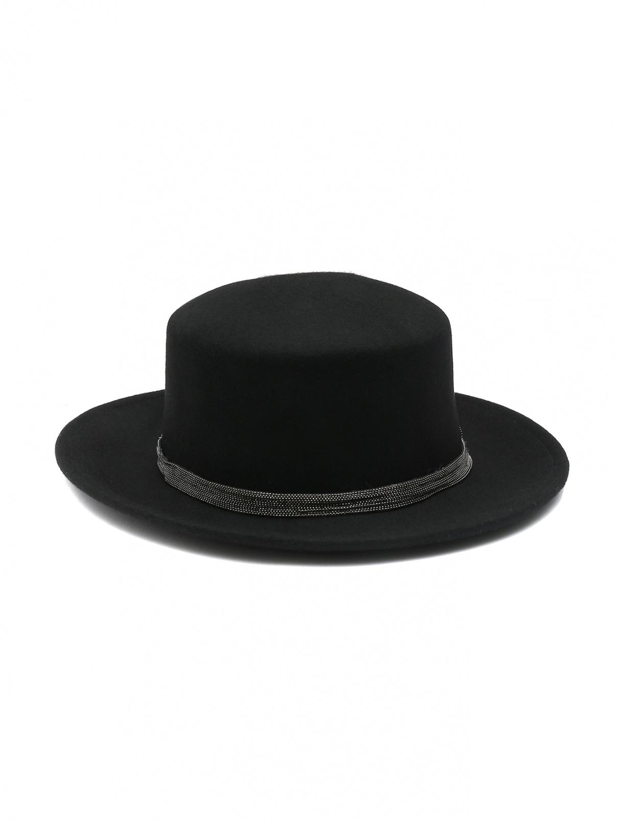 Шляпа из шерсти декорированная тесьмой Suncoo  –  Общий вид