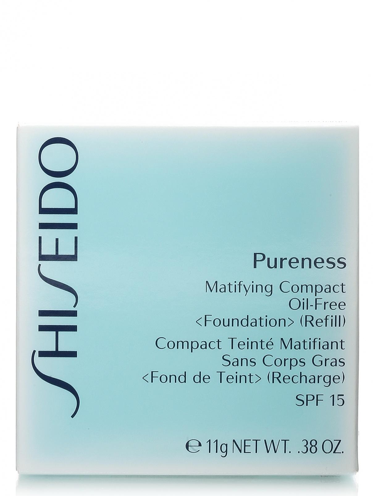 Матирующая пудра - №10 Light ivory, Pureness Shiseido  –  Модель Общий вид