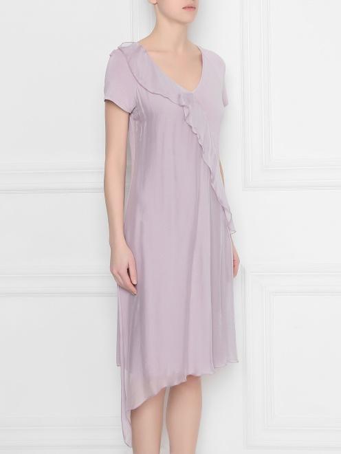 Платье из вискозы асимметричное DEHA - МодельВерхНиз