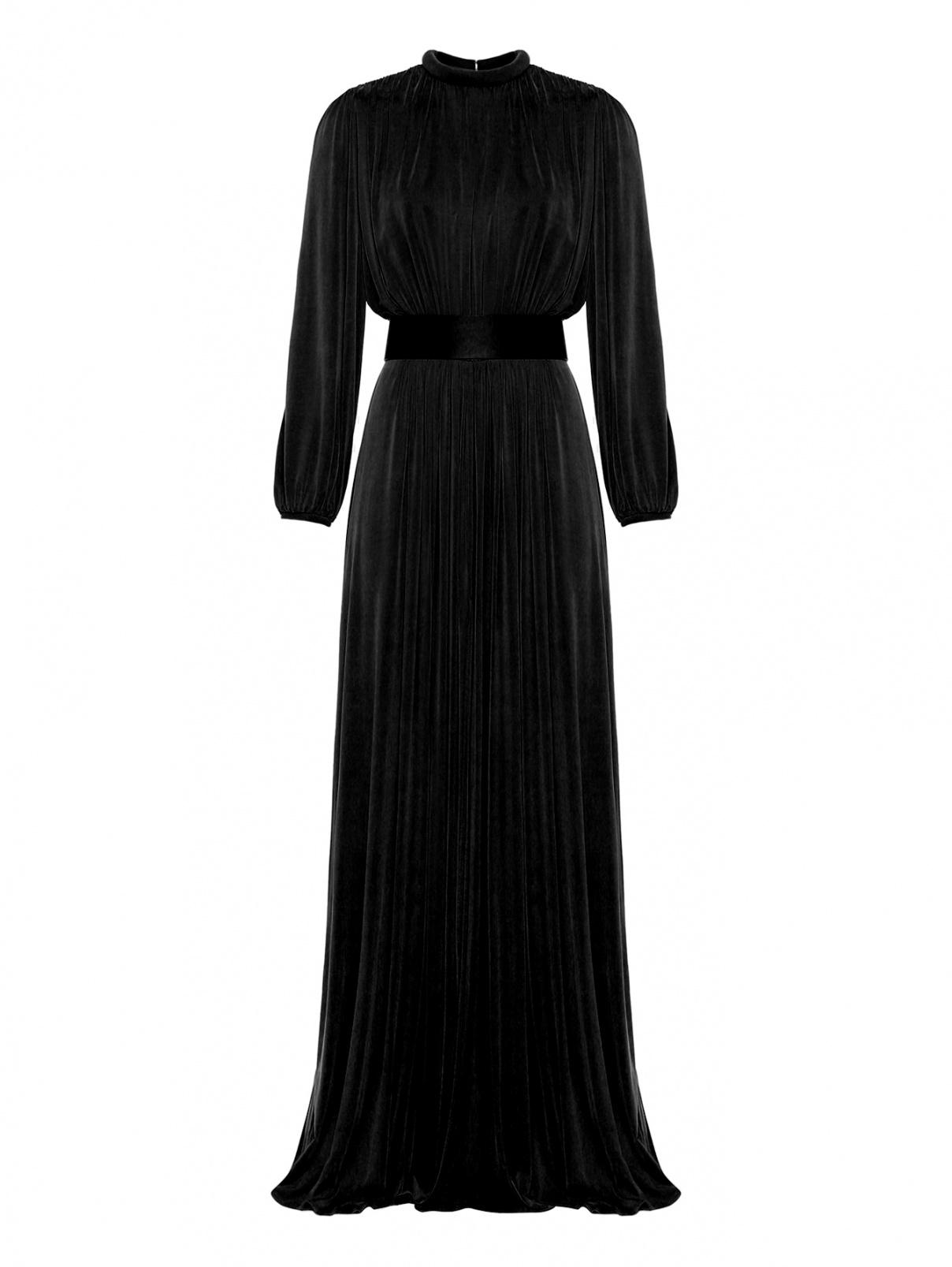 Платье-макси с подплечниками Elisabetta Franchi  –  Общий вид