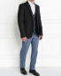 Пиджак однобортный из шерсти и шелка Jil Sander  –  Модель Общий вид