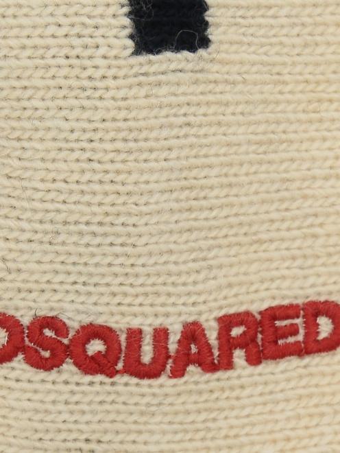 Бандана из шерсти с узором Dsquared2 - Деталь1