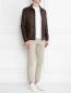 Куртка из кожи с накладными карманами Bosco Fresh  –  МодельОбщийВид