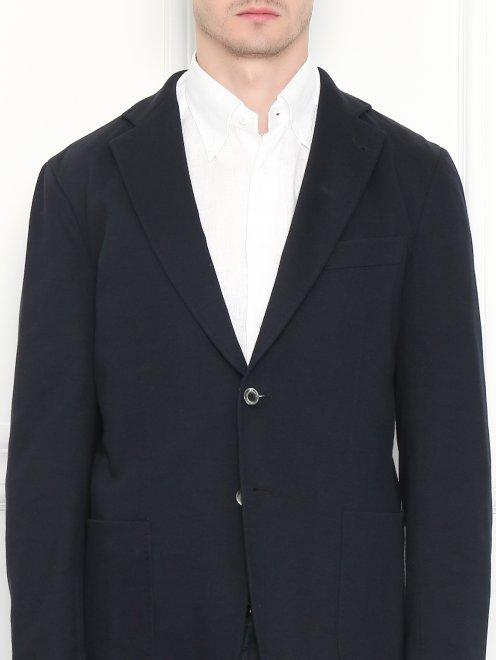 Пиджак трикотажный из хлопка - МодельОбщийВид1