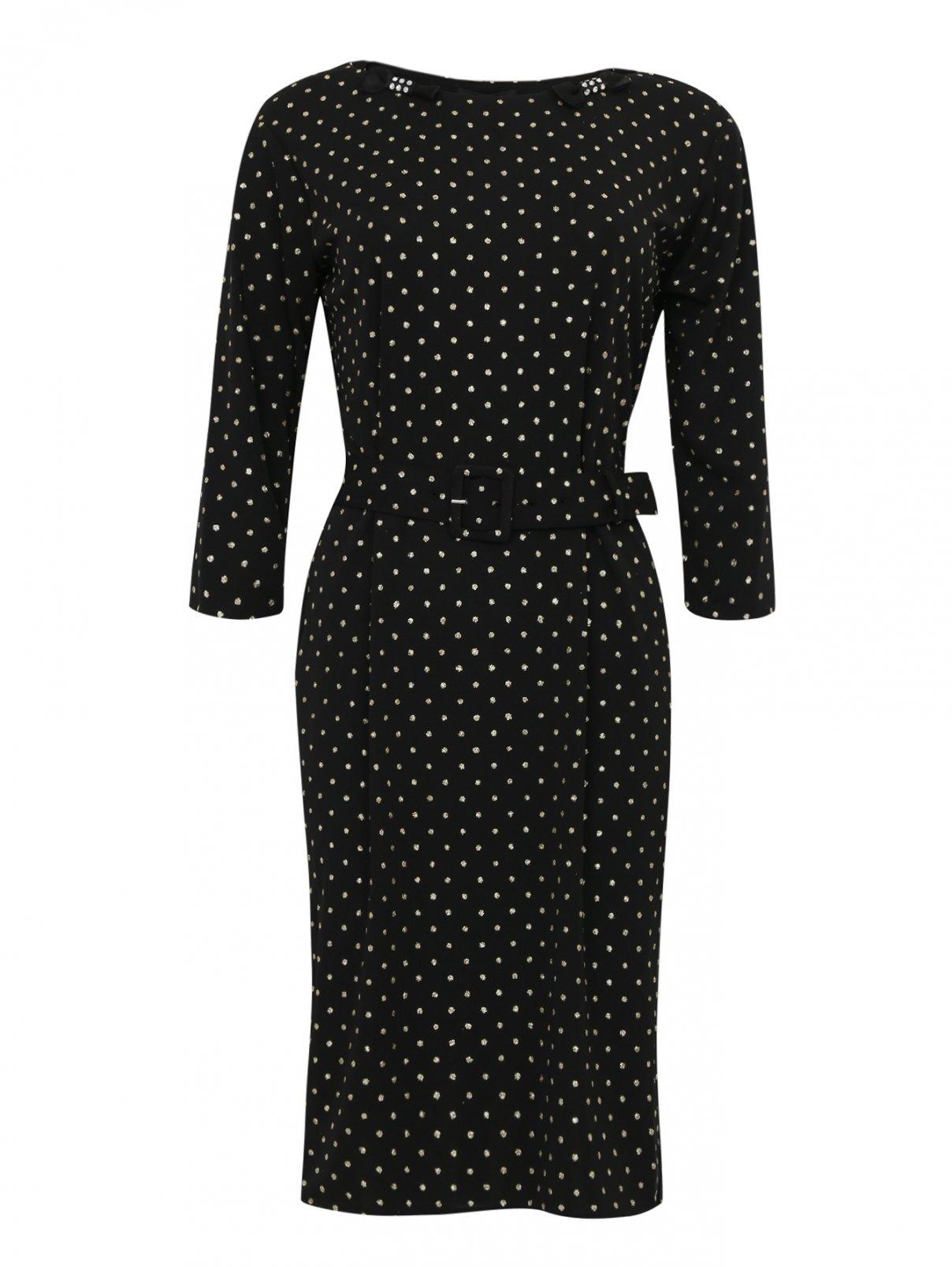 Платье-футляр с узором и декоративной отделкой Marc Jacobs  –  Общий вид