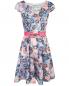 Платье-мини без рукавов с узором под пояс Max&Co  –  Общий вид