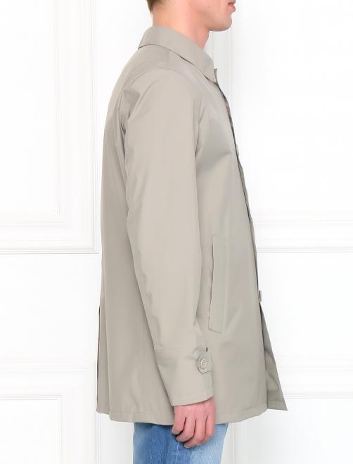 Плащ однобортный с боковыми карманами - Модель Верх-Низ2