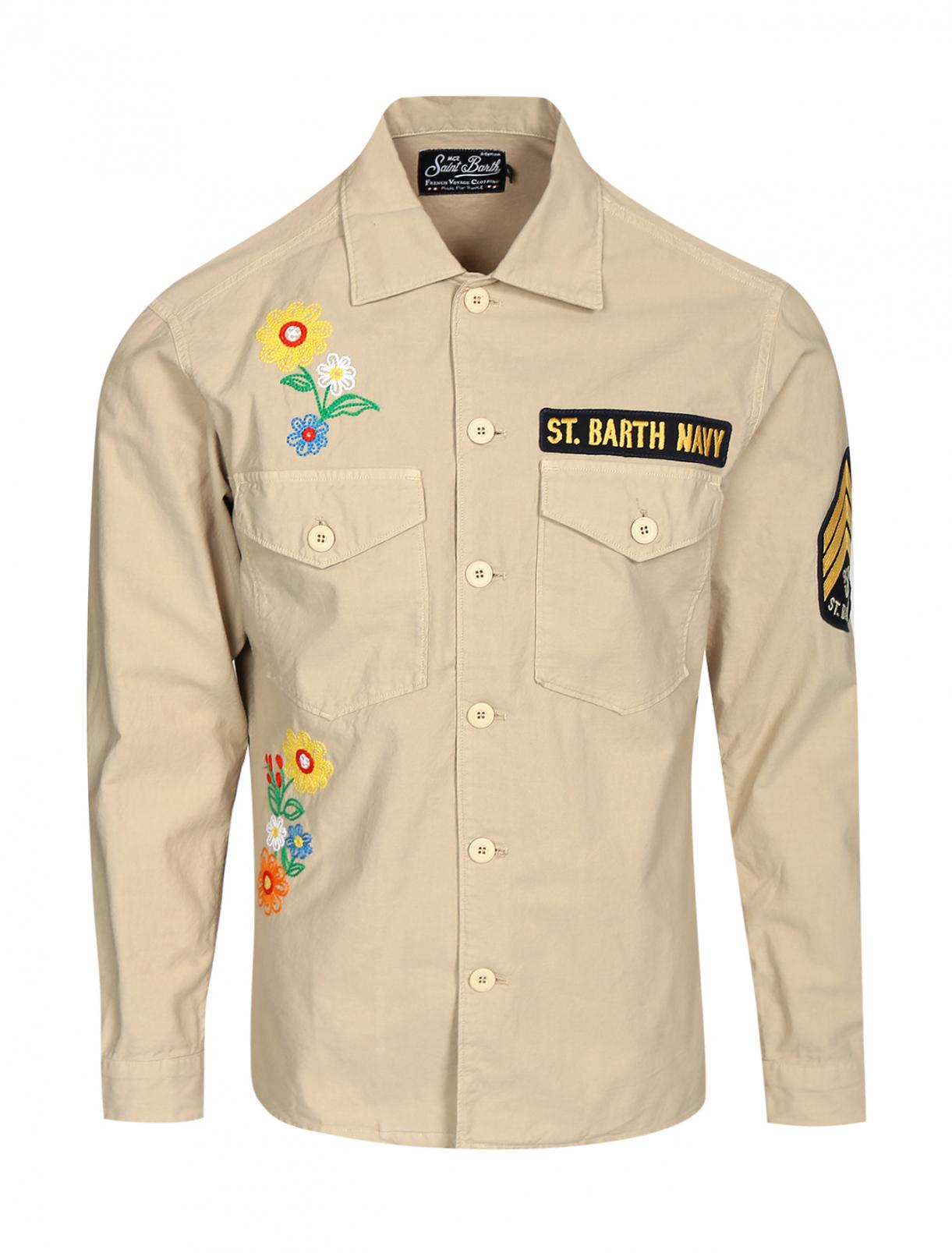 Рубашка из хлопка с аппликацией Mc2 Saint Barth  –  Общий вид