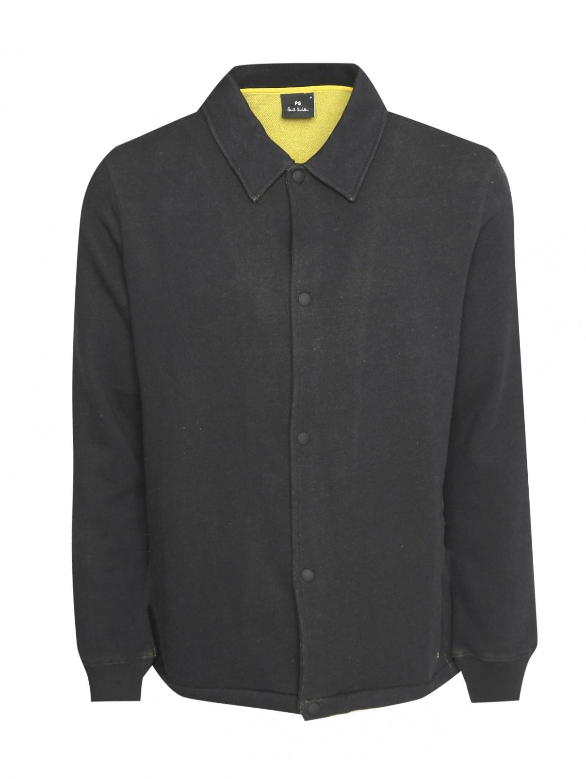 Куртка трикотажная из хлопка на кнопках Paul Smith  –  Общий вид