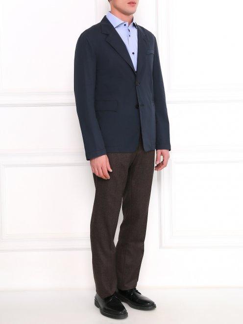 Легкий однобортный пиджак из хлопка  - Общий вид
