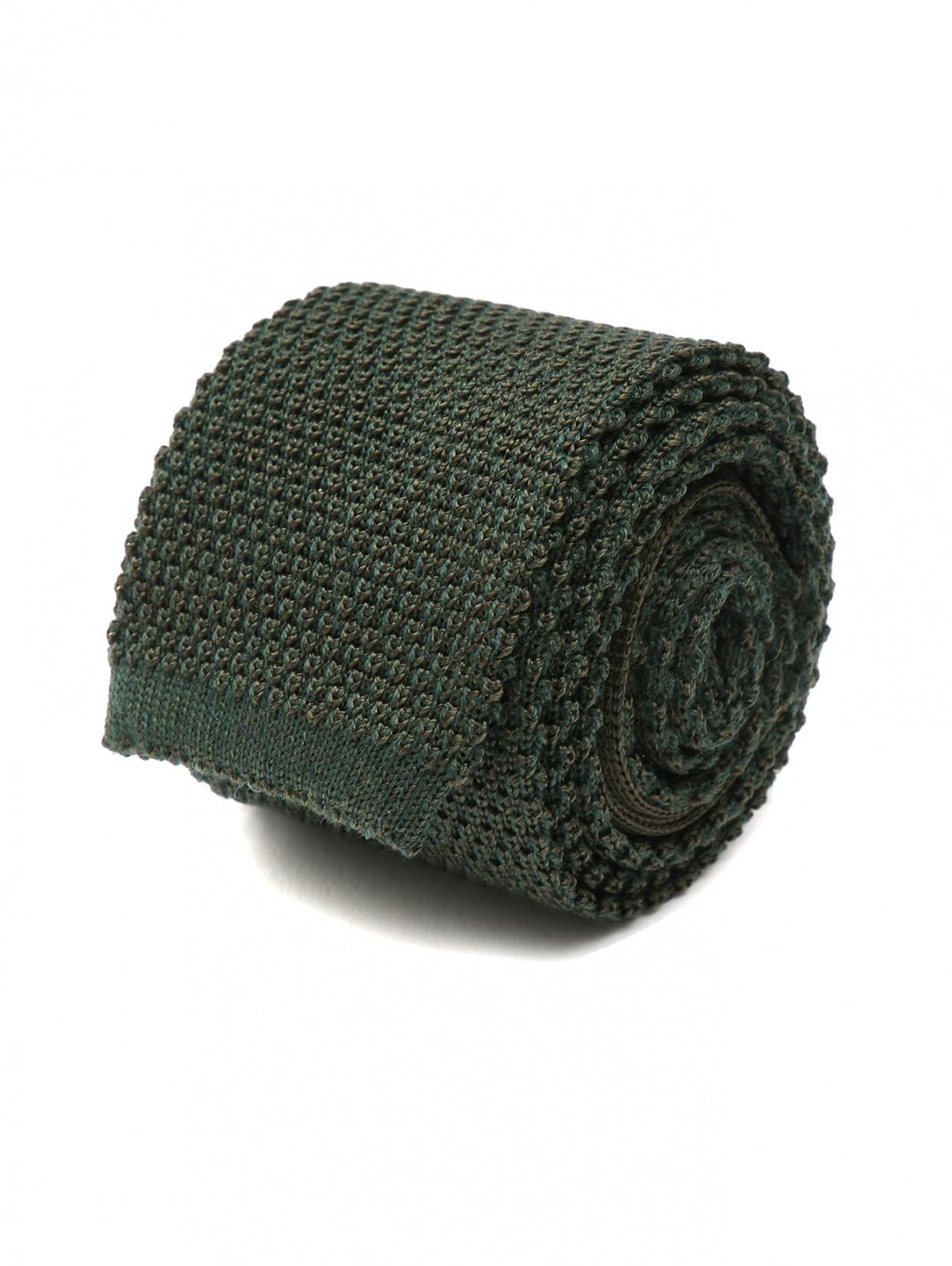 Галстук вязаный из шерсти и шелка Eton  –  Общий вид