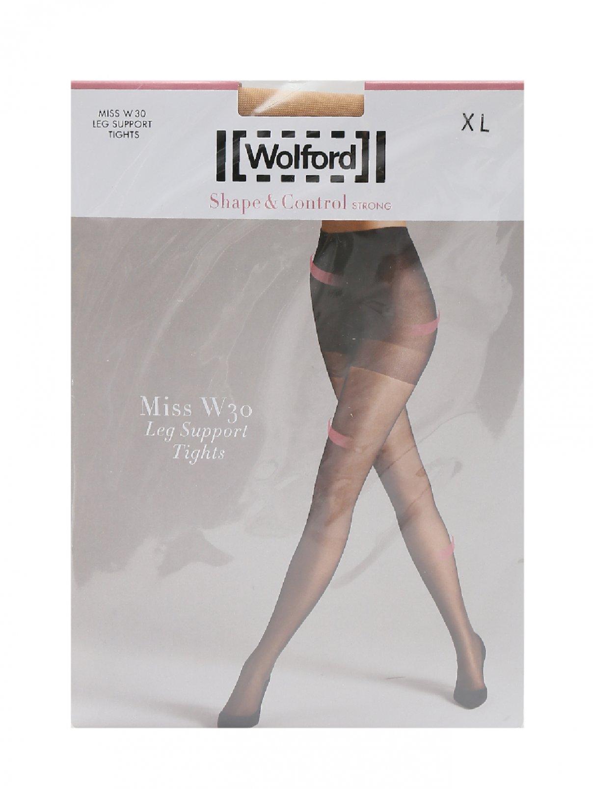 Бежевые колкотки 30 den Wolford  –  Общий вид