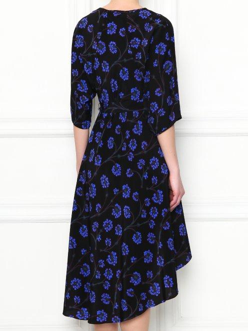 Платье-миди из шелка с узором Diane von Furstenberg - МодельВерхНиз1