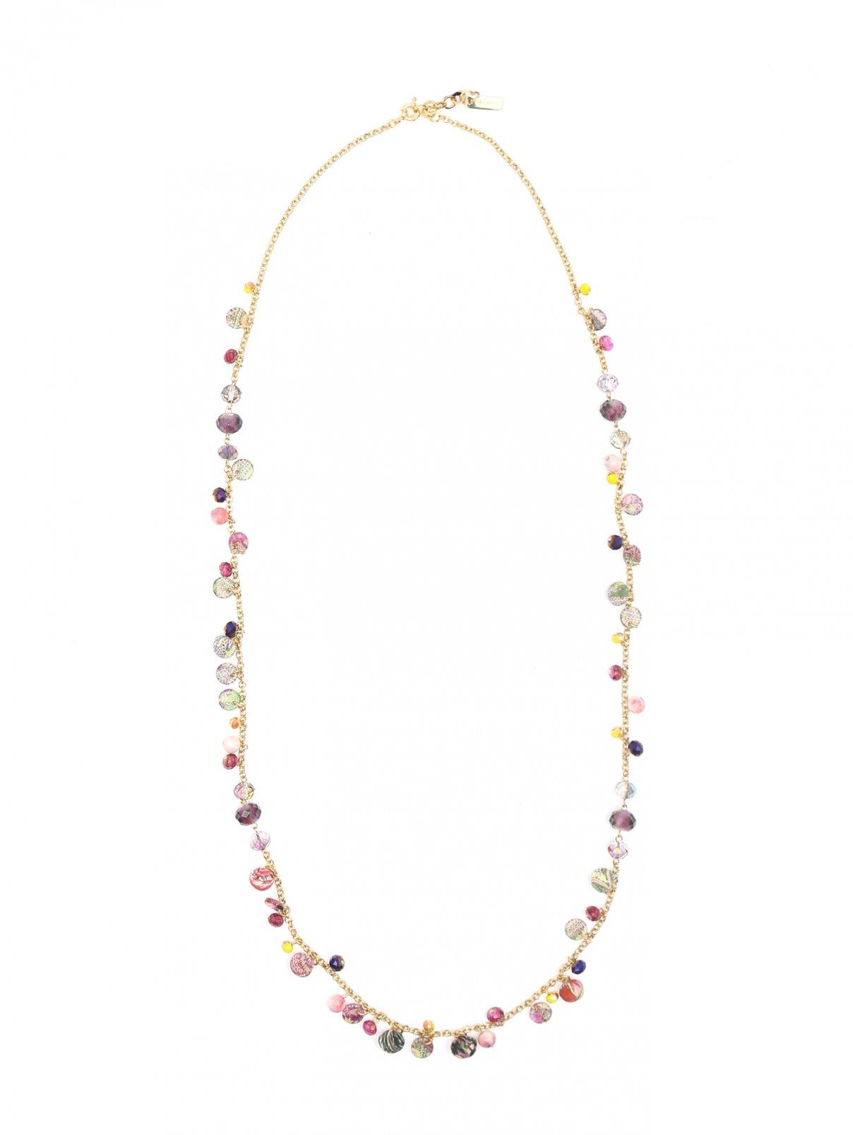 Ожерелье из металла декорированное кристаллами Etro  –  Общий вид