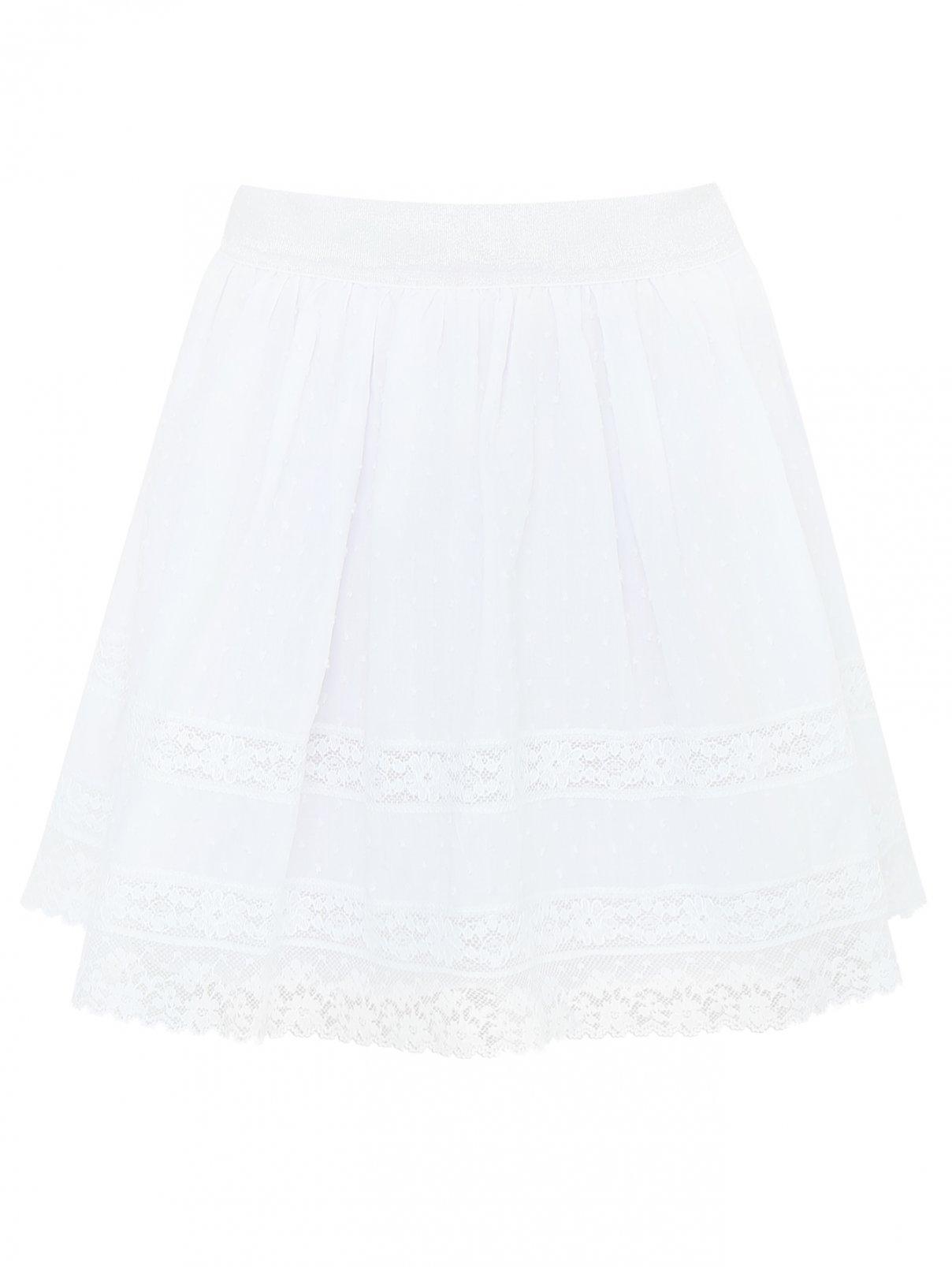 Юбка из фактурного хлопка на резинке Aletta Couture  –  Общий вид