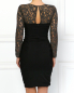 Платье-миди с кружевной вставкой Moschino Cheap&Chic  –  Модель Верх-Низ1