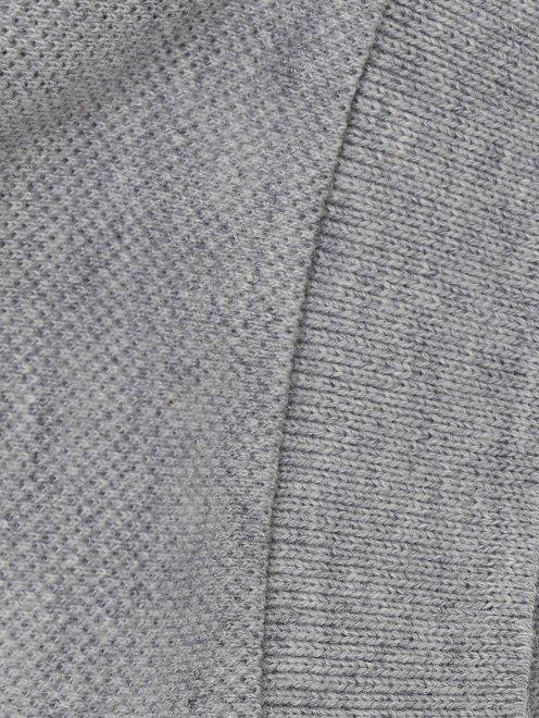 Поло из фактурного хлопка с декором у ворота Paul Smith Junior - Деталь