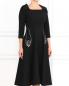 Платье-миди с вышивкой и рукавом 3/4 Vivetta  –  Модель Верх-Низ