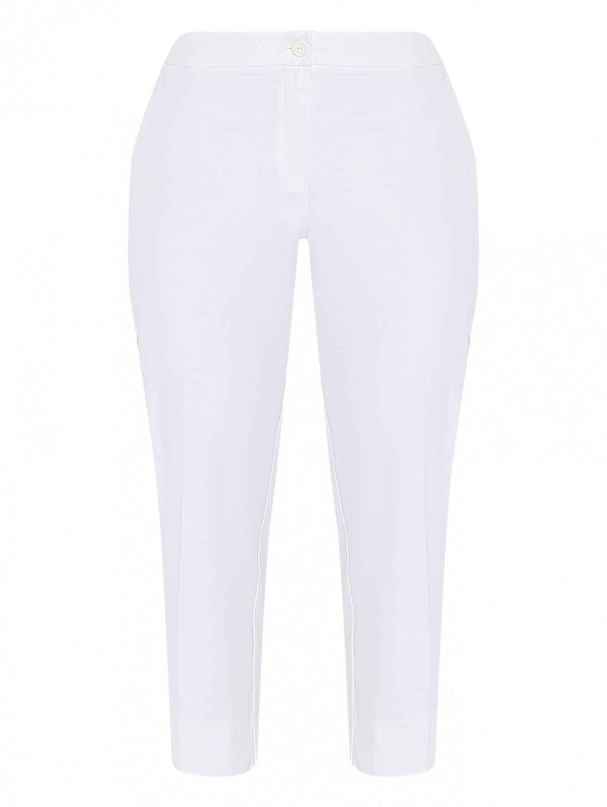 Укороченные брюки из хлопка с разрезами Persona by Marina Rinaldi  –  Общий вид