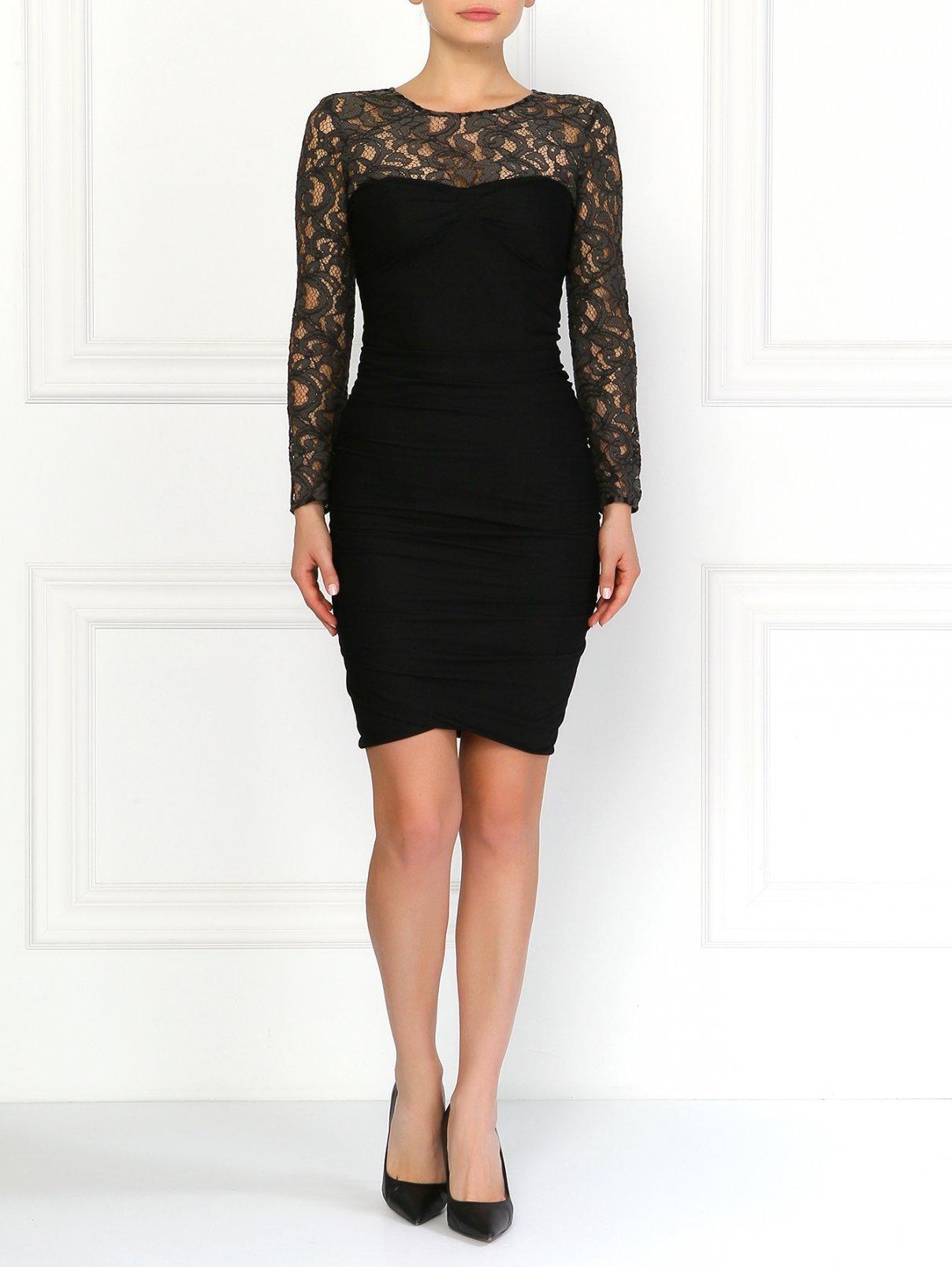 Платье-миди с кружевной вставкой Moschino Cheap&Chic  –  Модель Общий вид