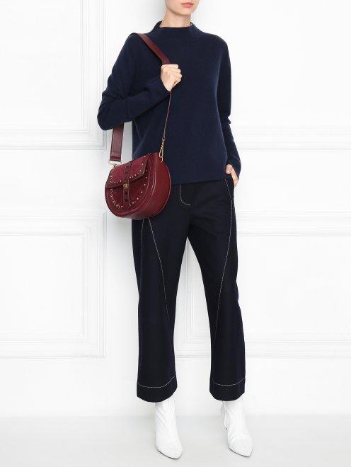 Джемпер из шерсти и кашемира с декоративной молнией - Общий вид