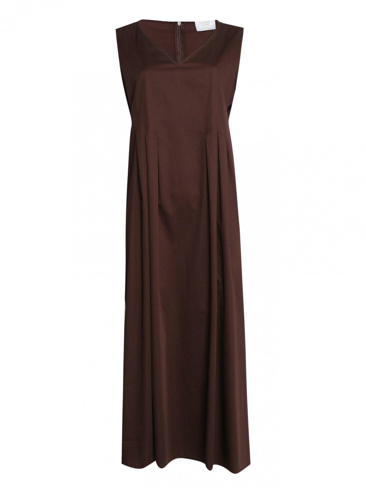 Платье из хлопка однотонное Marina Rinaldi  –  Общий вид