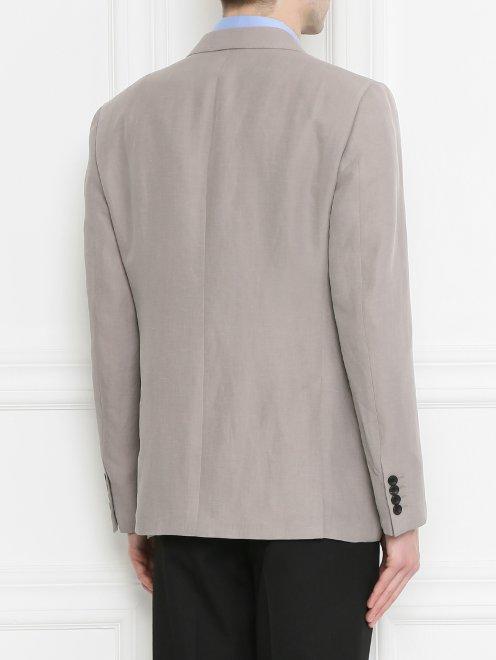 Пиджак из льна - МодельВерхНиз1