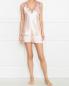 Пижама шелковая  с отделкой из кружева Frette  –  МодельОбщийВид