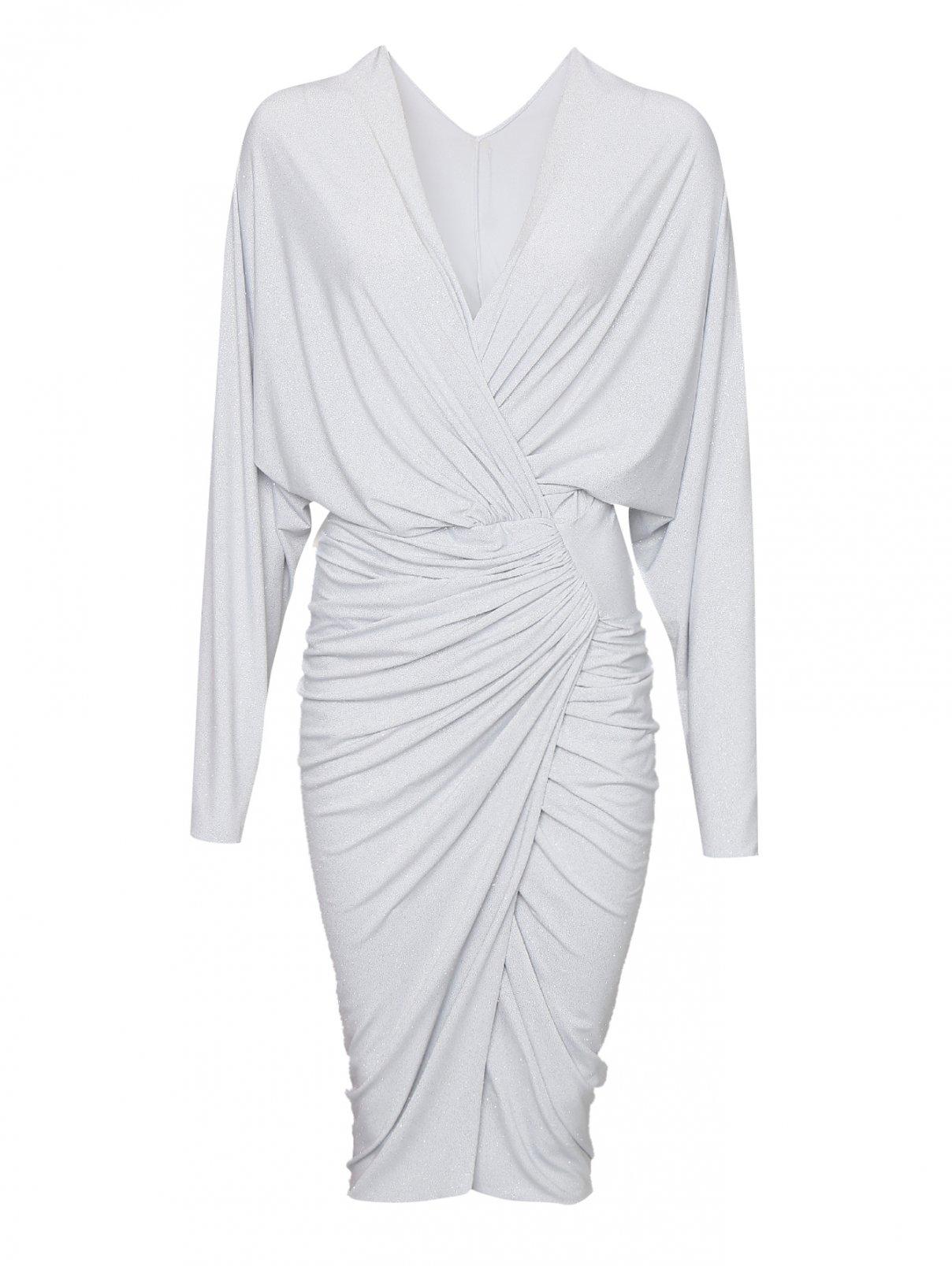 Платье трикотажное со сборкой Rhea Costa  –  Общий вид