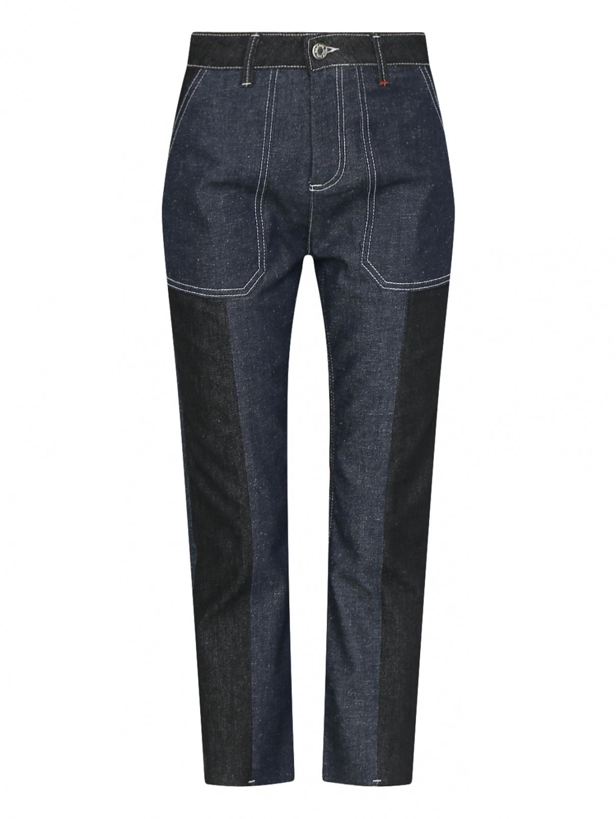 Укороченные джинсы с контрастной строчкой Max&Co  –  Общий вид