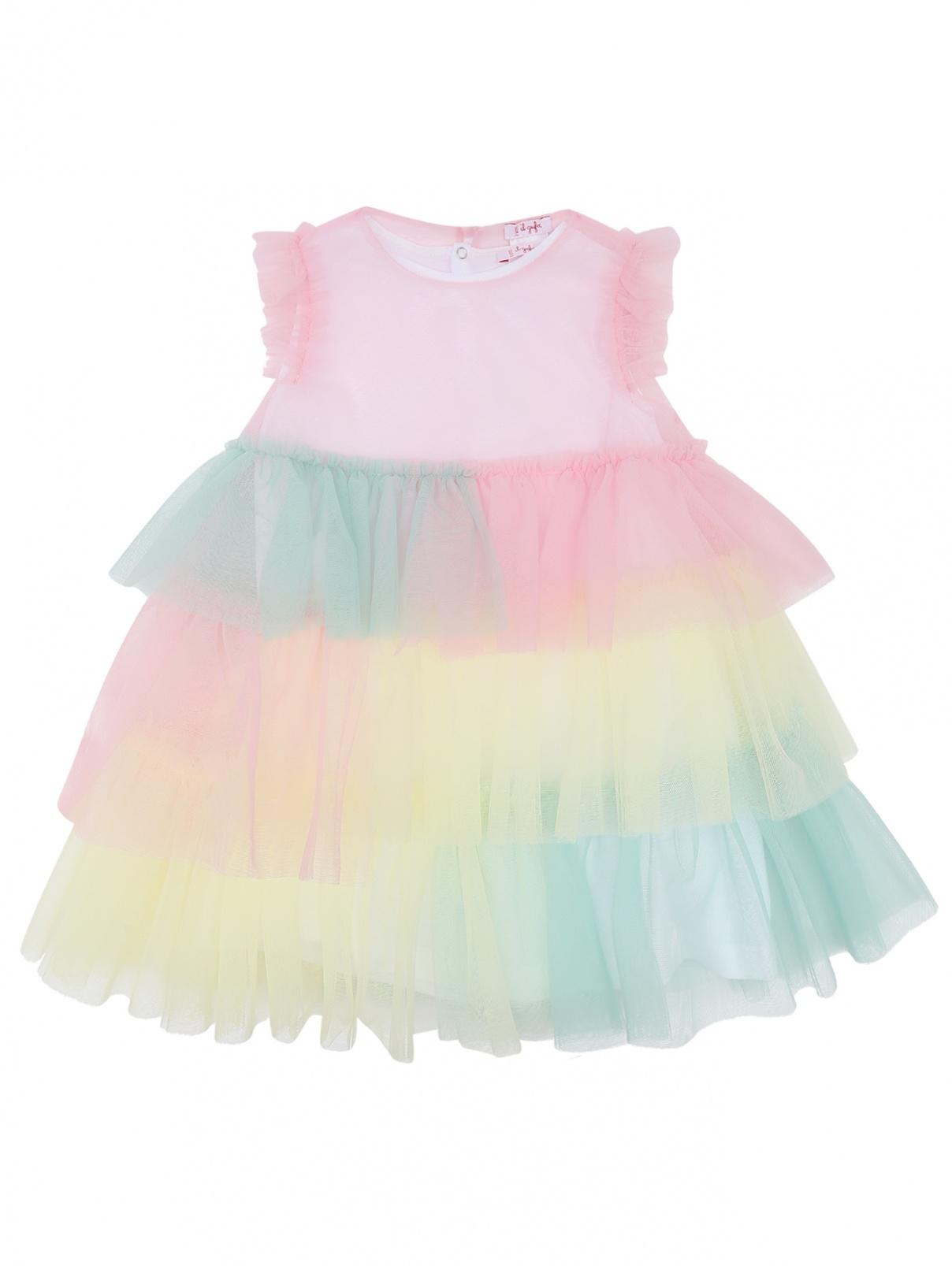 Платье из сетки с воланами Il Gufo  –  Общий вид