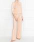 Пижама из шелкового трикотажа с кружевом La Perla  –  МодельОбщийВид