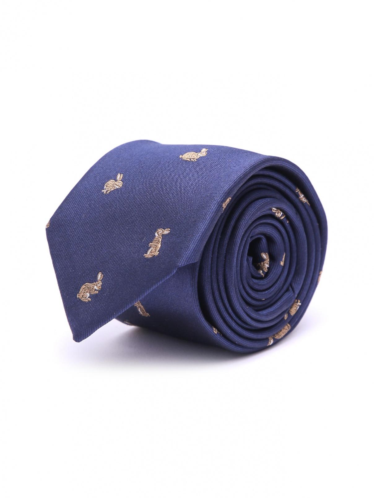 Галстук из шелка с вышивкой Paul Smith  –  Общий вид