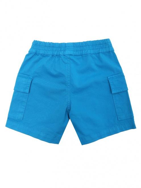 Шорты из плотного хлопка с карманами Paul Smith Junior - Общий вид