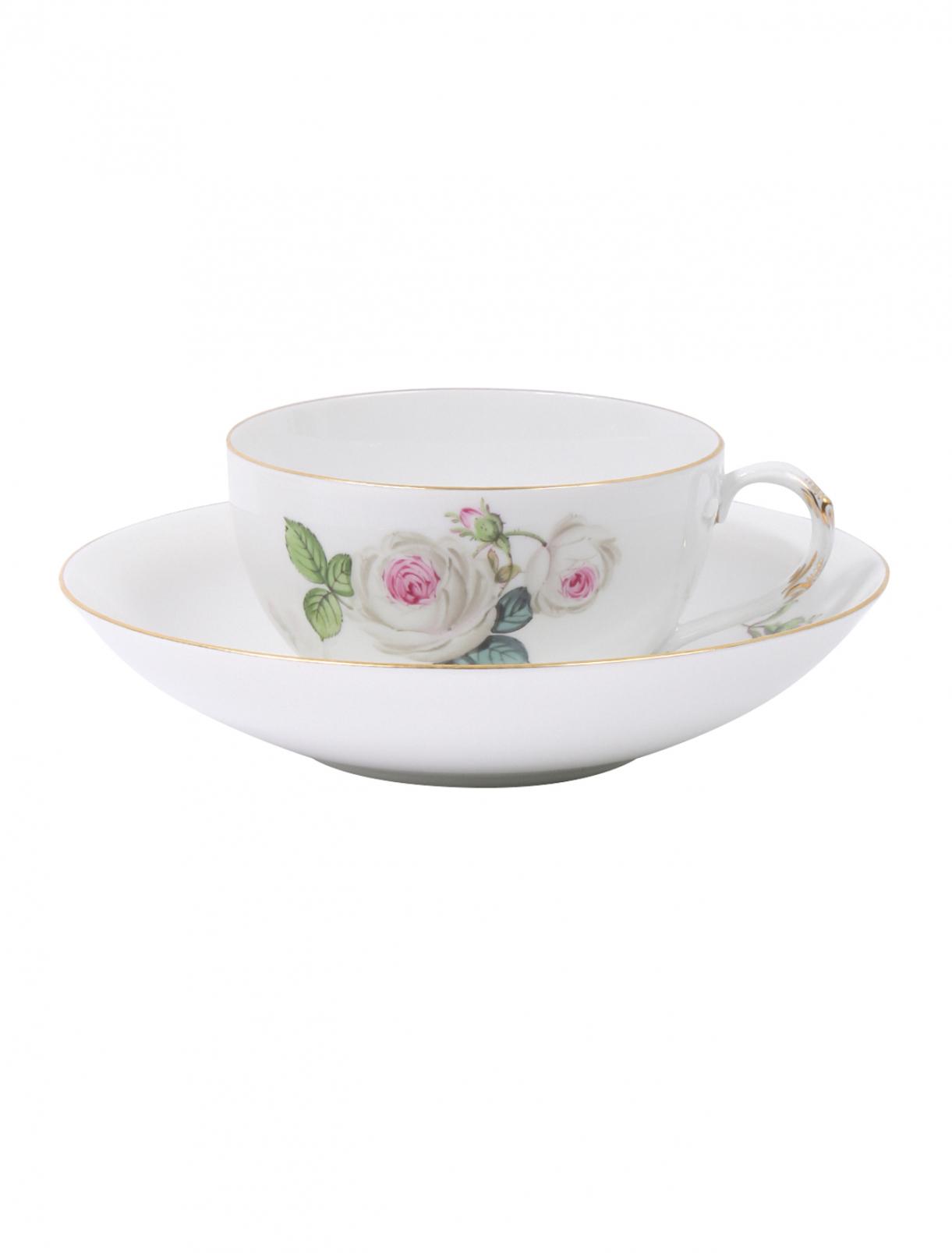 Чайная чашка из фарфора с блюдцем Meissen  –  Общий вид
