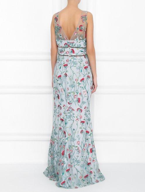 Платье-макси с цветочным узором - МодельВерхНиз1