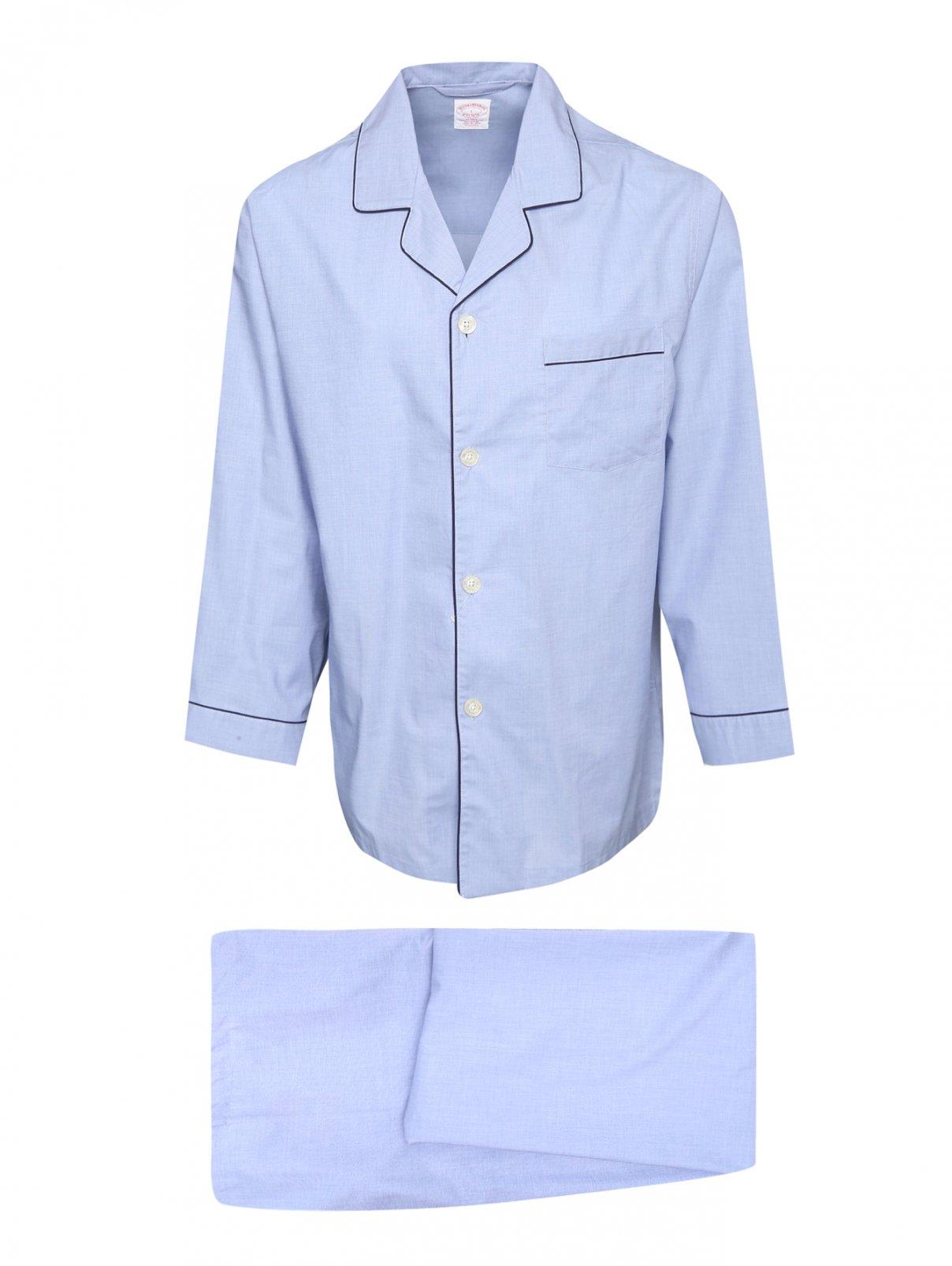 Пижама из хлопка Brooks Brothers  –  Общий вид