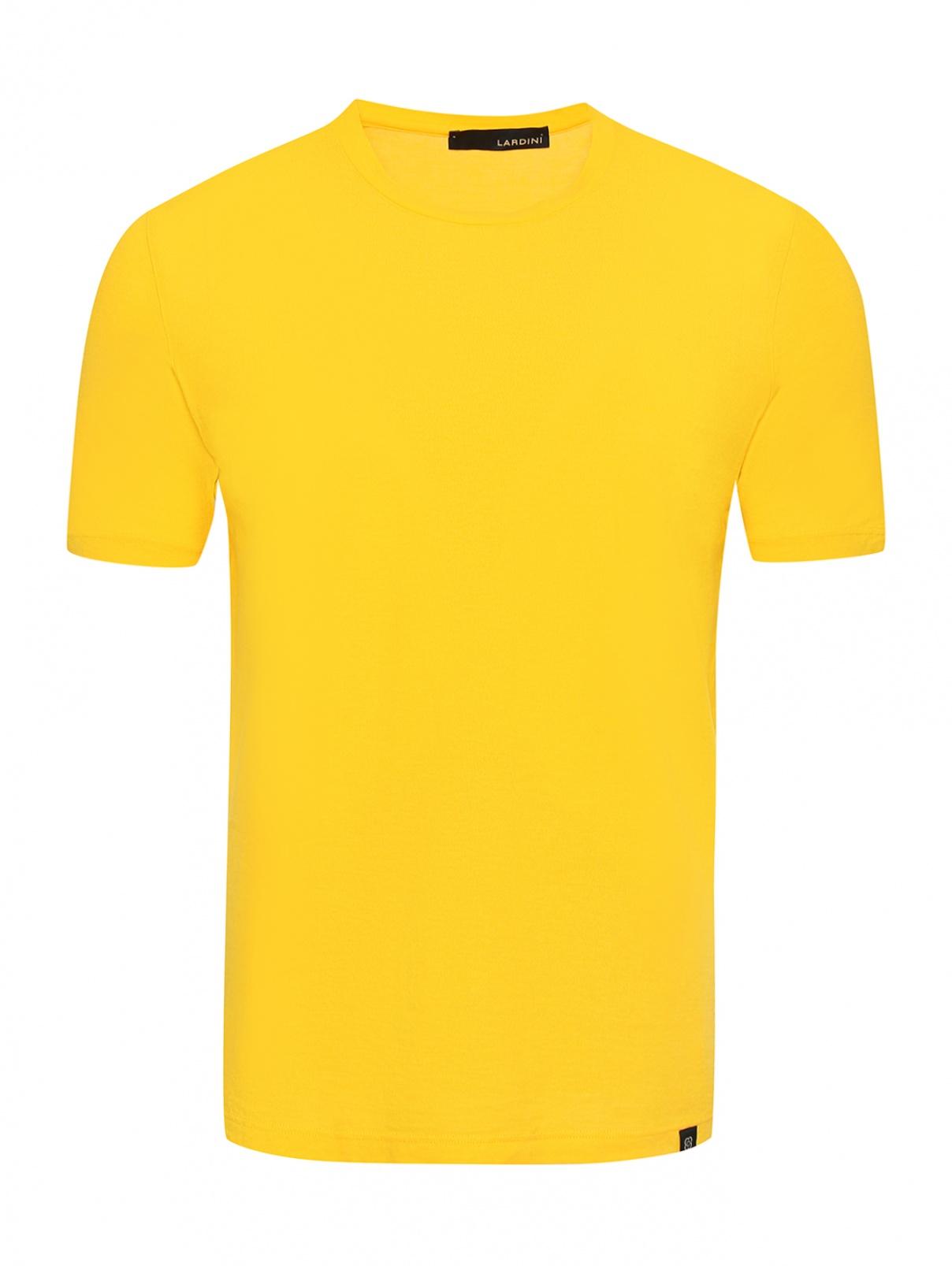 Однотонная футболка из хлопка LARDINI  –  Общий вид